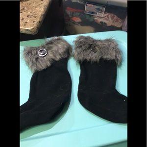 Michael Kors fur boot liners